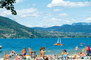 Spiaggia sul lago di Caldonazzo